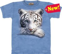 Resting White Tiger T-Shirt by The Mountain 2XL 3XL
