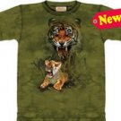 Tiger Growl Mother & Cub T-Shirt by The Mountain 2XL 3XL