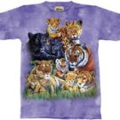 Mother & Cub Collage Lion Tiger Cheetah Leopard T-Shirt by The Mountain 2XL 3XL