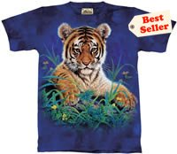 Tiger Cub in Grass T-Shirt by The Mountain 2XL 3XL