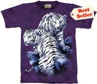 Sanctuary White Tiger T-Shirt by The Mountain 2XL 3XL
