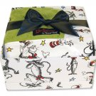 Dr. Seuss Cat in the Hat Boxed Green Blanket Set
