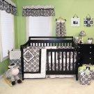 Versailles Black & White 4 Pc Crib Set