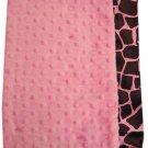 Custom Rose Giraffe Ruffled Silky Toddler Blanket