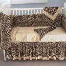 Custom Handmade 4 Piece Cheetah Baby Bedding Set