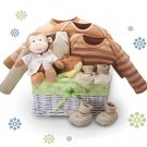 Organic! - Monkey Business Baby Gift Basket