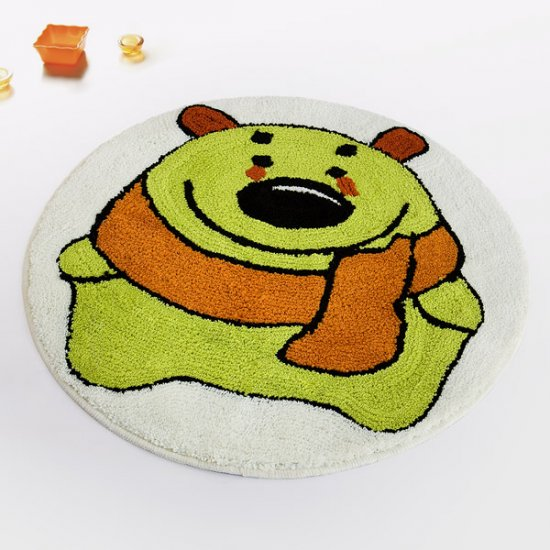 Green Bear Kids Room Rug