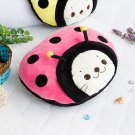 Sirotan - Ladybug Pink Blanket Pillow Cushion / Travel Pillow Blanket