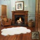Premium Four Longwool Sheepskin Rug - Taupe