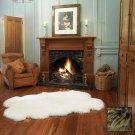 Premium Four Longwool Sheepskin Rug - Fudge
