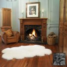 Premium Four Longwool Sheepskin Rug - Steel Grey