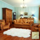 Premium Six Longwool Sheepskin Rug - Cream