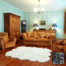Premium Six Longwool Sheepskin Rug - Steel Grey