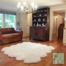 Premium Eight Longwool Sheepkin Rug - Linen