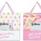 Dr. Seuss Oh! The Places You'll Go Pink 2 pc Frame Set