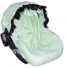Sage Minky Dots Infant Car Seat Cover