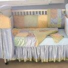 Boys Multi-Colored Velvet Crib Bedding~4 Piece Set