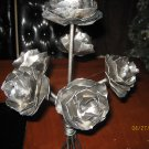 Table centerpiece, Metal roses sculpture, Home decor floral arrangment