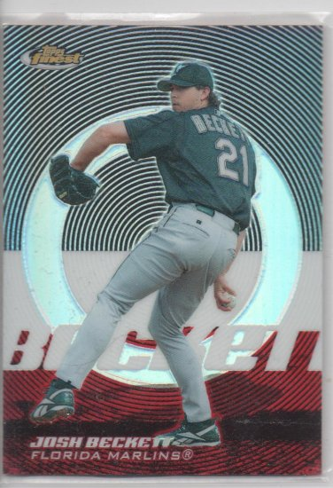 05 Topps Finest Josh Beckett Refractor Parallel Card # 313/399