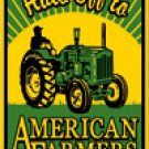 ★Free S/H Hats Off To American Farmers Tractor Farm sign GIFT