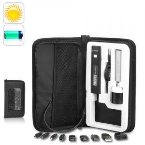 1400mAh Solar Charger Bag For Mobile Phone w/ LED Flashlight