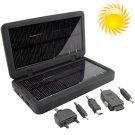 2600mAh Solar Battery Charger Box for iPods, Phones, Cameras and USB Devices