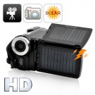 720P HD Solar Camcorder w/ Dual Charging Panels