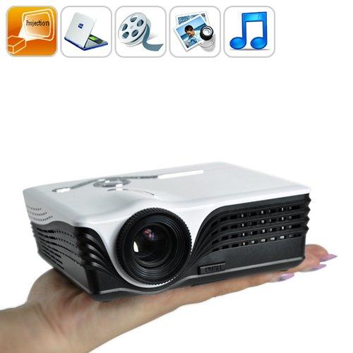 Mini Portable Projector - Lcos LED Projector w/ SD Card Slot