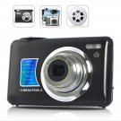 DC-M3 14MP Digital Camera - 4x Zoom 2.7 inch Cam - Black