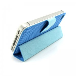 Guoer iPhone 4 4S Mini Smart Case 2GEN - Magnetic Surface Protective Shell - Blue