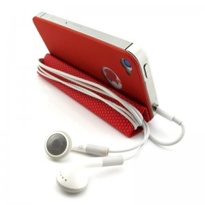 Guoer 3GEN iPhone 4 / 4S Metal Boundless Back Case - Mini Smart Cover with Magnetic Stand - Red
