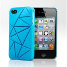 Urban Prefer Coin4 - iPhone 4 4S Silicone Back Case - Blue