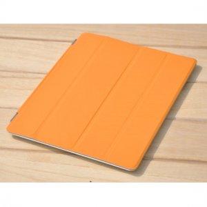 New iPad 3 / iPad 2 Polyurethane Smart Cover Stand - Orange