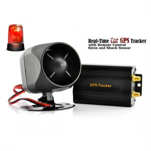 Real-Time Car GPS Tracker with Remote Control Siren & Shock Sensor