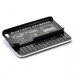Wireless Bluetooth Sliding QWERTY Keyboard Case For iPhone 5