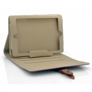 Flip Stand Leather Case For iPad Mini - Brown
