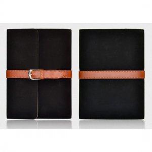 Flip Stand Leather Case For iPad Mini - Black