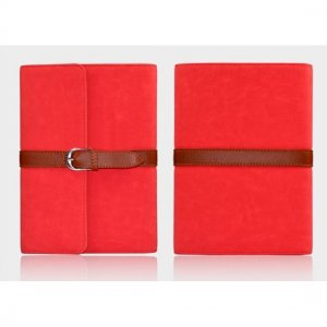 Flip Stand Leather Case For iPad Mini - Red