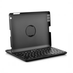 360 Degree Rotation Head Bluetooth Keyboard Case for iPad 2 / New iPad