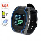 GTW-100 Quad Band -1.5 inch  LCD Display  Digital Analog Time GSM network Cell Phone GPS Wristwatch