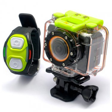 1080P HD Wifi Sports Cam Action - Helix 5.0MP 60 FPS H.264 (MP4) Action Camera