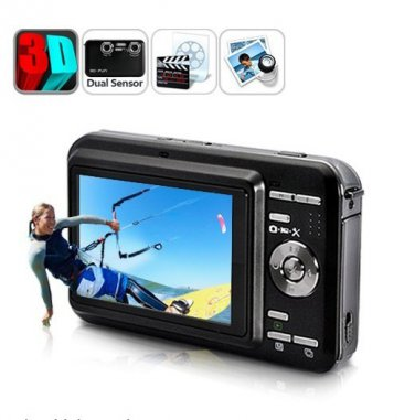 Wholesale  DV72 30FPS Dual 5.0MP Digital Camera - 3 Inch  2D/3D Video Camcorder
