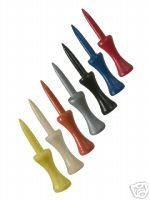 """200 2 3/4"""" step down golf tees  -  Assorted Colors"""