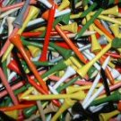 "1,000  3 1/4"" golf tees  -  Assorted Colors"