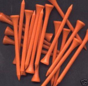 """500  3 1/4"""" golf tees  - Orange"""
