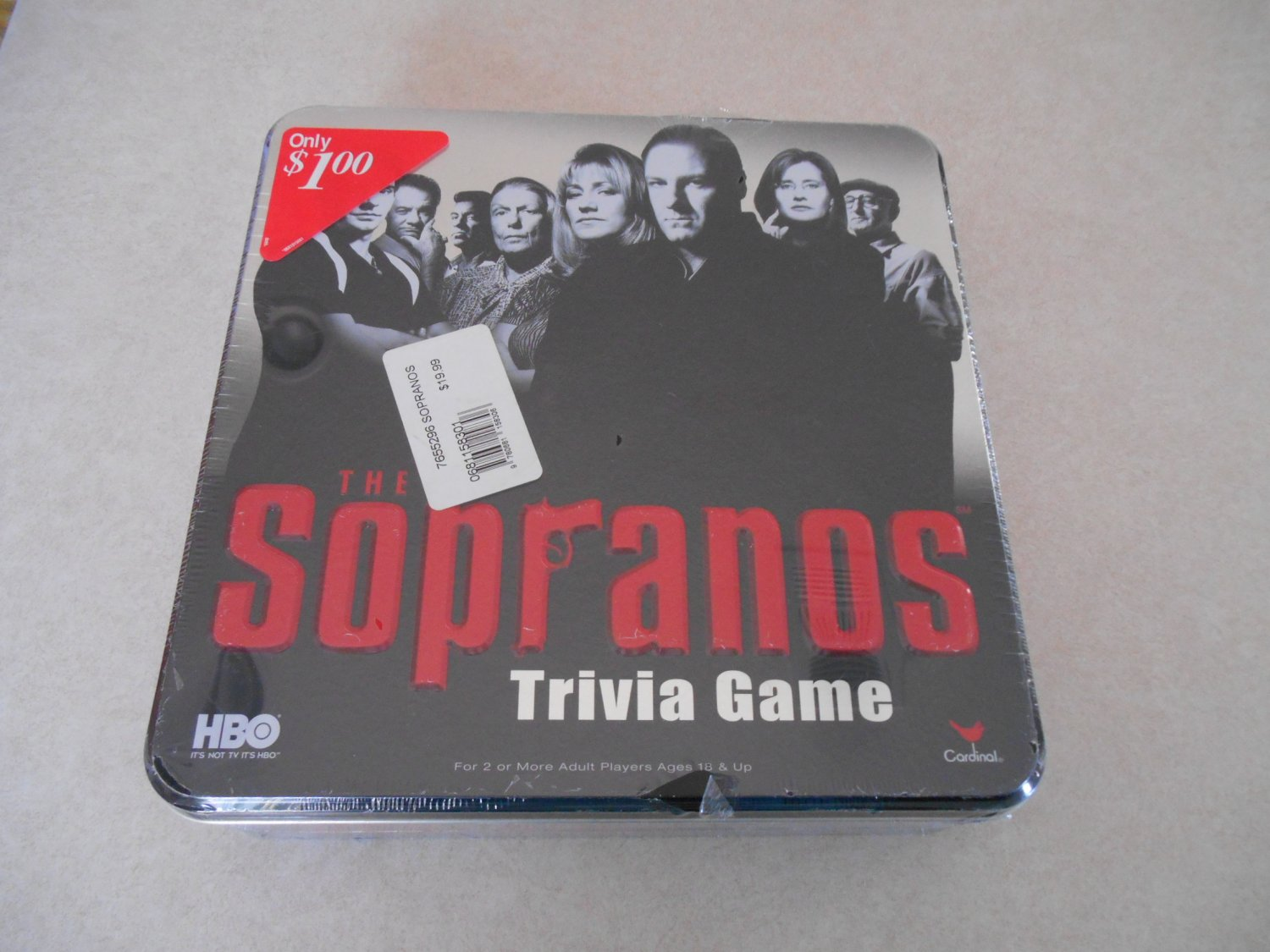 The Sopranos Trivia game Collectable tin  factory sealed