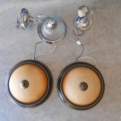 Lot of four Indoor light fixtures brown, silver