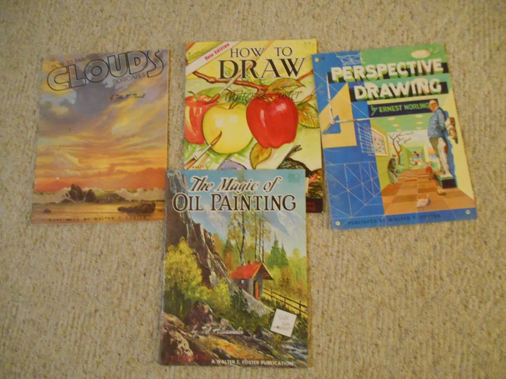 Lot of 4 how to Paint/Drawing books