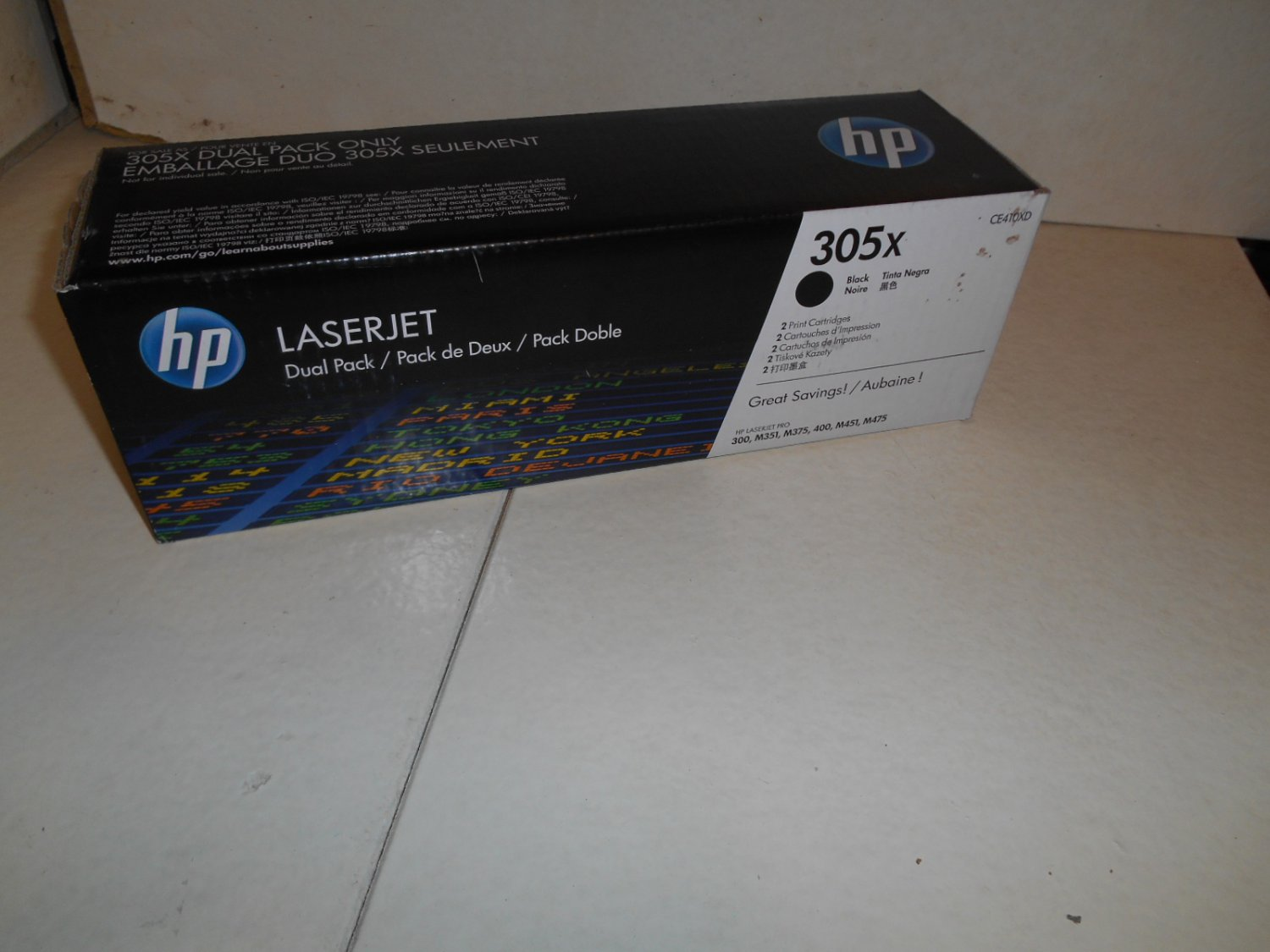 1 HP 305x Black toner cartridge