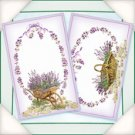 Flower Soft Lavender Baskets & Barrows Card Toppers
